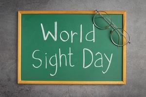 wereld zicht dag concept foto
