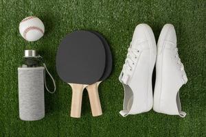 sport elementen arrangement minimalistische stijl foto