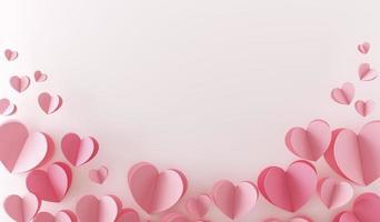 het bovenaanzicht veel roze harten foto