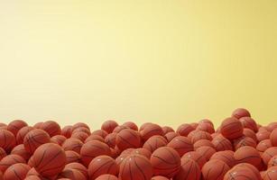 bovenaanzicht compositie met basketballen foto