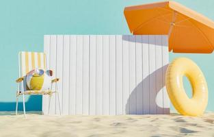 uithangbord op het strand foto