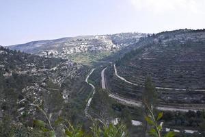 verbazingwekkende landschappen van Israël, uitzicht op het heilige land foto