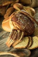 heerlijk vers brood eten concept foto