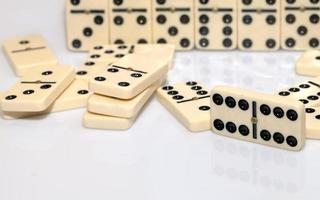 domino strategie spel stenen foto