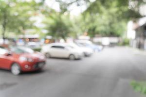 abstracte wazige parkeerauto voor achtergrond foto
