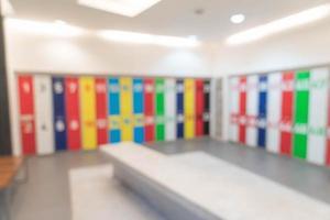 abstract vervagen locker in toilet voor achtergrond foto