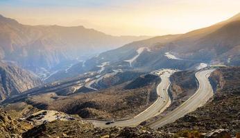Jebel Jais Road in de VAE foto