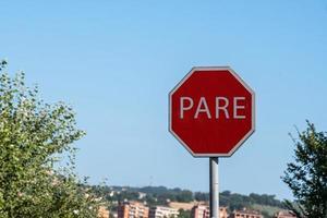 het verkeersbord ziet er Braziliaans uit foto