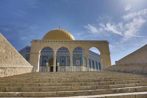 de tempelbergkoepel van de rots Jeruzalem, Israël foto