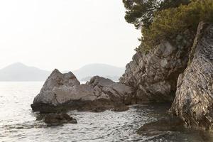 prachtig uitzicht op zee in montenegro foto