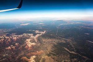 luchtfoto boven grand canyon arizona foto