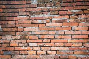 achtergrond van oude grunge bakstenen muur textuur foto