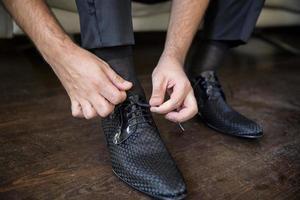bruidegom schoenen, bruiloft voorbereiding, bruidegom foto