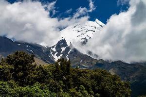 mount taranaki edgemont nationaal park nieuw-zeeland foto