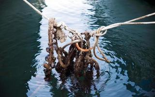 abstracte verbinding van touwlijnen foto