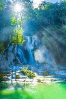 Kuang Si-waterval in Luang Prabang, Laos foto