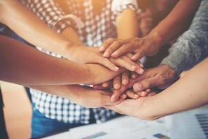 teamwork saamhorigheid samenwerking, business teamwork concept. foto