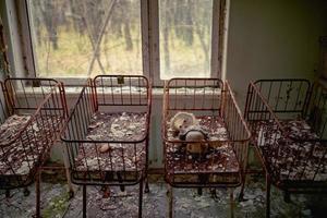 pripyat, tsjernobyl, oekraïne, 22 nov 2020 - verlaten ziekenhuis in tsjernobyl foto