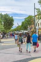 toeristen in novi vinodolski, kroatië foto