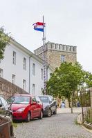 huizen in novi vinodolski, kroatië foto