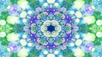 kleurrijke glanzende en hypnotiserende caleidoscoop foto