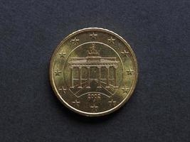 vijftig cent euro munt foto