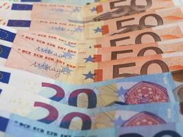 euro eur biljetten, europese unie eu foto
