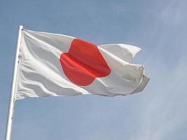 vlag van japan foto