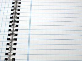 lege notitieboekpagina foto