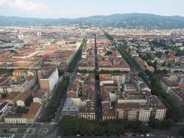 luchtfoto van turijn foto