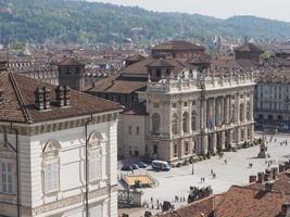 piazza castello turijn foto
