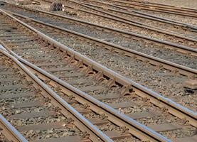 spoorlijnen perspectief foto