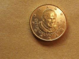 50 cent munt, europese unie foto