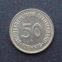 50 pfennings munt, duitsland foto