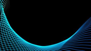 blauwe en groene curve vorm technische achtergrond foto