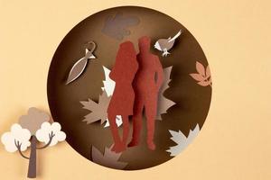 de herfst compositie papierstijl foto