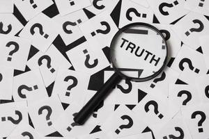 waarheidsconcept samenstelling detectivebureau foto