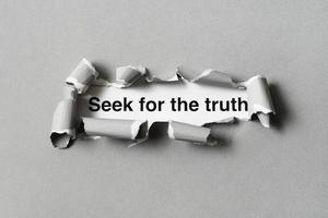de abstracte waarheid concept regeling foto
