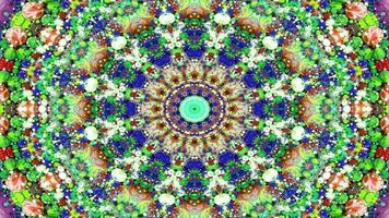 abstracte kleurrijke symmetrische caleidoscoop foto