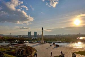 fort monument van belgrado foto