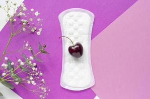 het concept van de gezondheid van vrouwen. vaginale afscheiding. foto