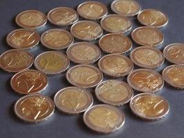 2 euromunten, europese unie foto