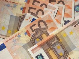 biljetten van vijftig euro foto