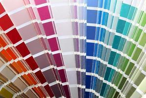kleurenkaart tafel: foto