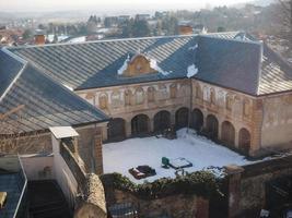 luchtfoto van villa melano ruïnes in rivoli foto