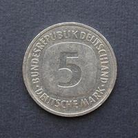 5 mark munt, duitsland foto