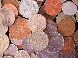 Britse pond munt foto