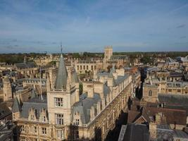 luchtfoto van cambridge foto