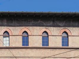 uitzicht op het oude stadscentrum in bologna foto