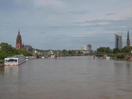 uitzicht op frankfurt, duitsland foto